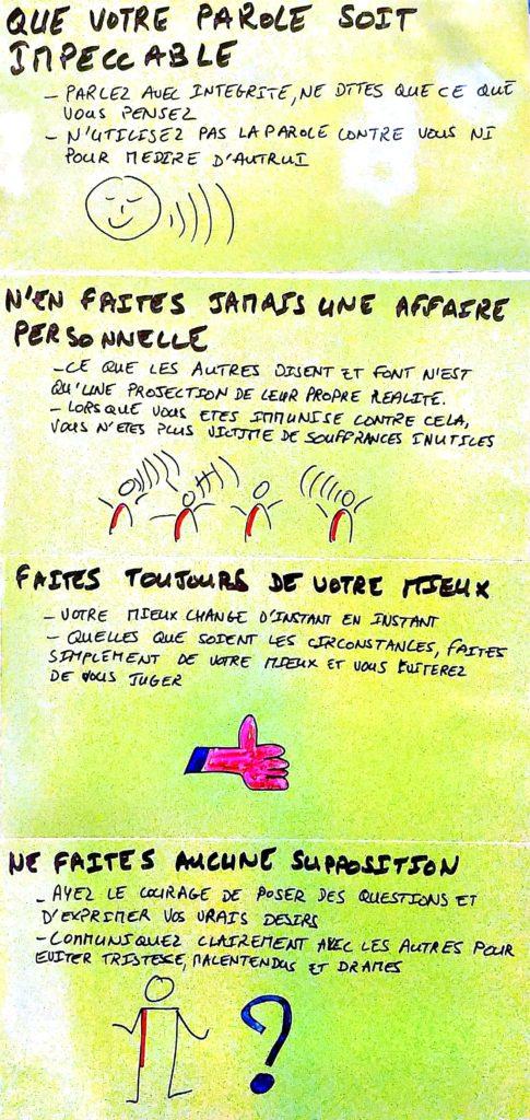 Les accords Toltèques version post-it